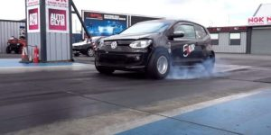 NOS Boosted VW Up Drag Car