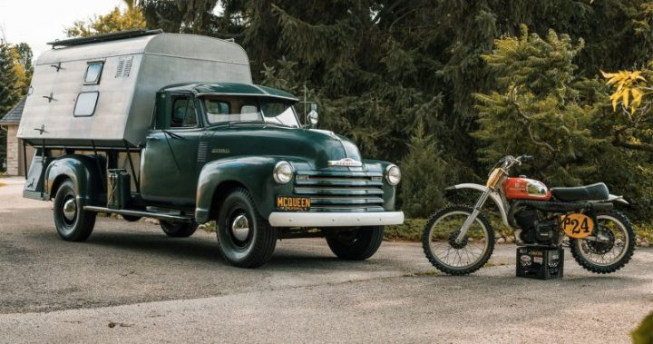 Steve McQueen Camper And Dirt Bike scaled