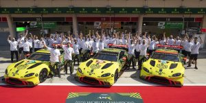 Aston Martin Racing 2020 WEC world champs