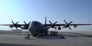 U.S. Air Force AC 130W Stinger II prepares for exercise over United Arab Emirates