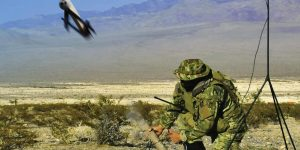 Switchbalde drone launched by a soldier