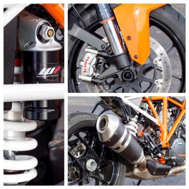 Un chasis, frenos y suspensión creíbles contribuyen a la agilidad de la KTM