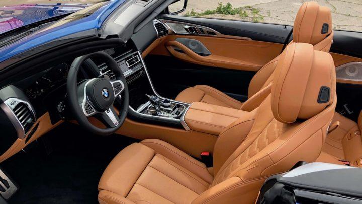 Una mirada al interior del BMW 850i GT Convertible.