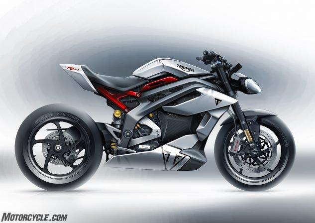 001 RHS Triumph lista para liderar el campo de las motocicletas eléctricas con el prototipo TE-1