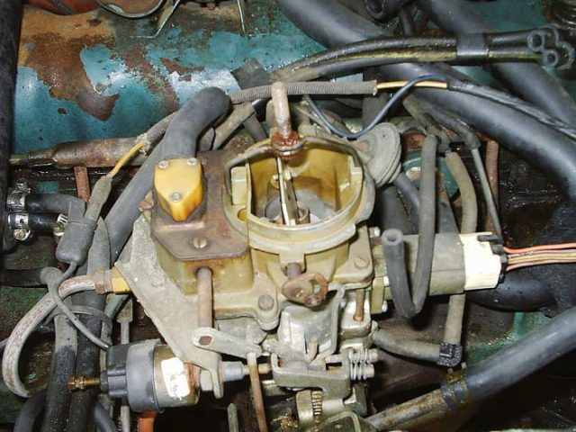 High engine and ambient temperatures can transfer to the mechanical fuel pump, carburetor, and fuel lines, creating a vapor lock.