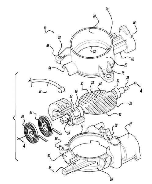 Sistema de inyección típico del cuerpo del acelerador.