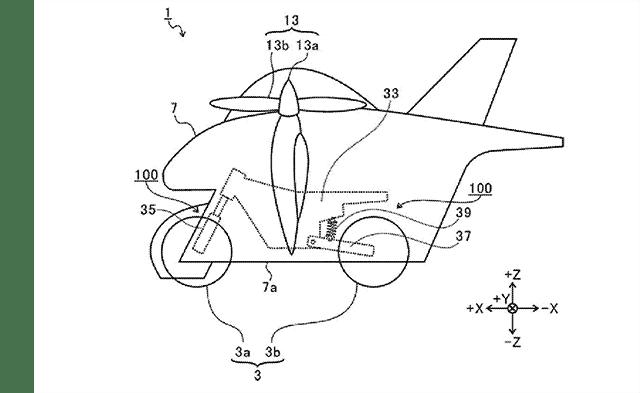 040121 Subaru flying motorcycle patent f 1 No es broma: Subaru está desarrollando una motocicleta voladora