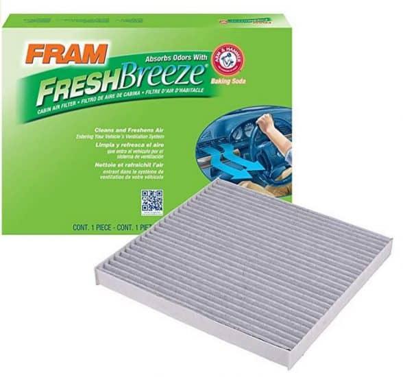 FRAM CF10374 Fresh Breeze Cabin Air Filter with Arm Hammer Los 10 mejores filtros de aire de cabina para automóvil en Amazon (Cómo elegir un filtro de aire de cabina) - AutoVfix.com