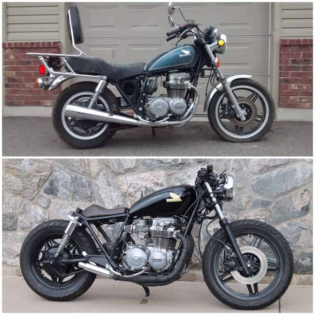 CB650 Before And After