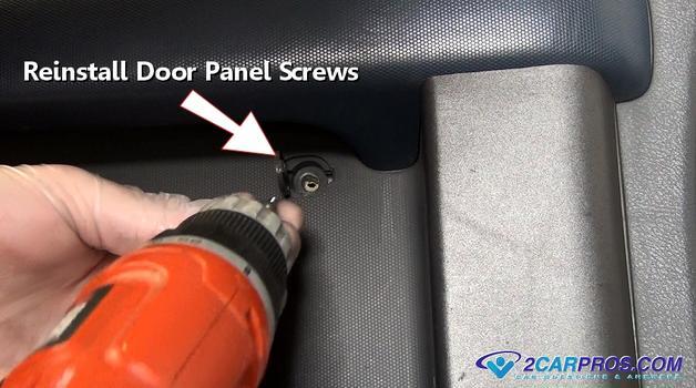 reinstall door panel screws 543