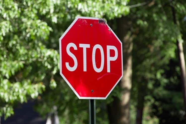 stop sign large