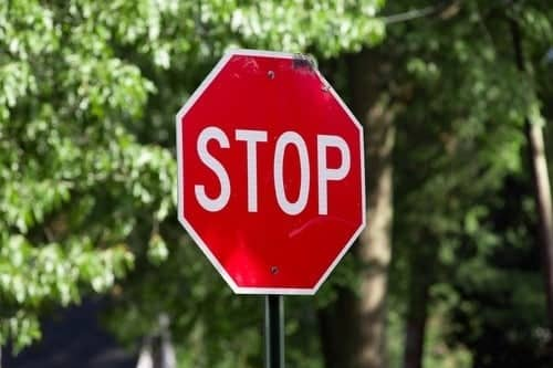 stop sign small