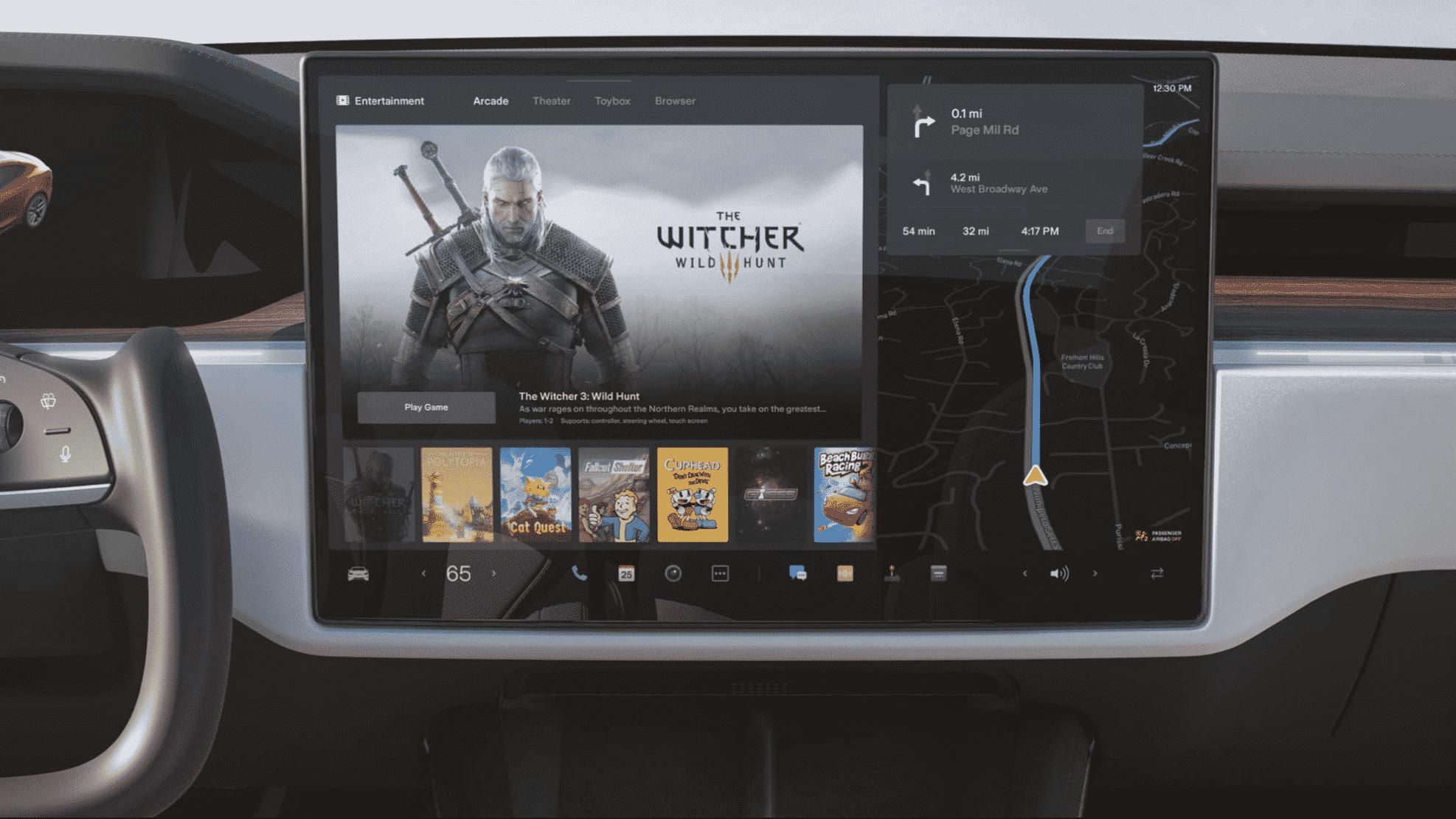 La pantalla táctil en el coche.