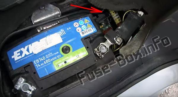Fusibles en la batería (ubicación): Citroen C8 (2002-2008)