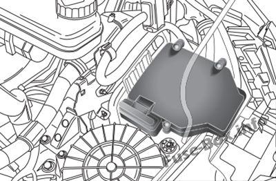 Ubicación de los fusibles en el compartimento del motor: Fiat Ducato (2015, 2016, 2018, 2019)