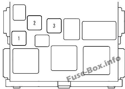 Diagrama de la caja de fusibles interior (delantero): Scion xB (2007-2015)