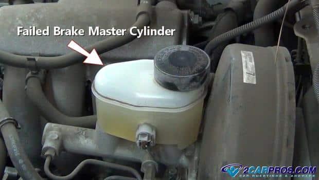 cilindro maestro de freno defectuoso 2342