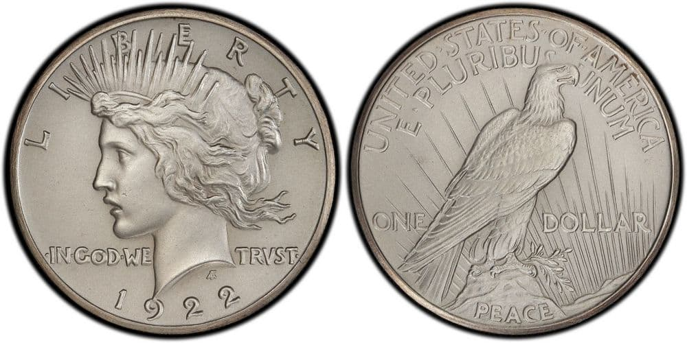 1922 Proof Peace High Relief Dollar