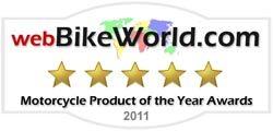 2011 webBikeWorld Producto de motocicleta del año