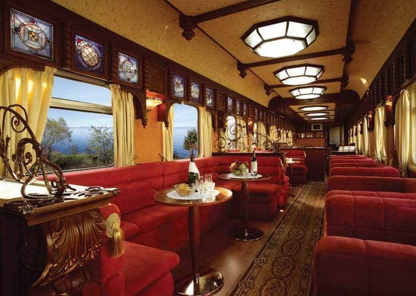 Interior del Golden Eagle Trans-Siberian Express