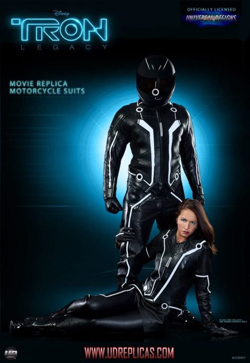 Limited edition TRON motorcycle suits 1 scaled
