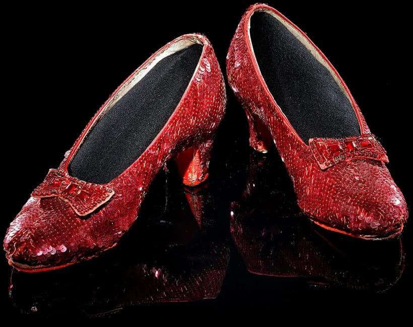 Zapatillas de rubí originales de El mago de Oz