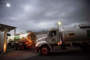 Semi truck gasoline usage