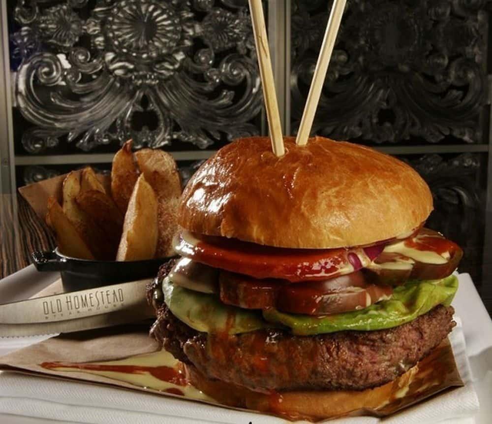 La hamburguesa de tres ternera