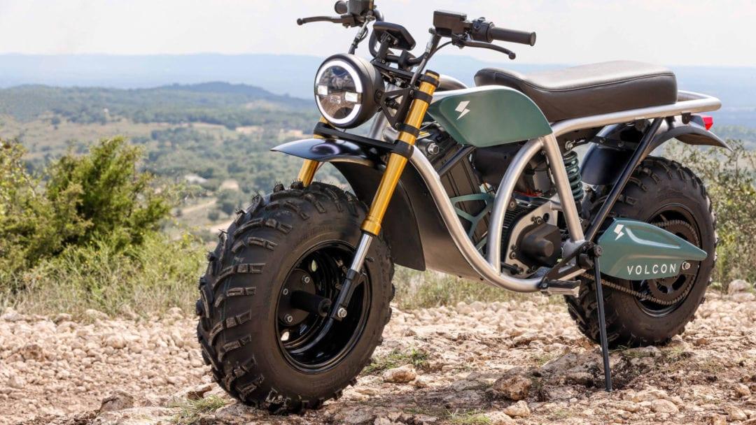 The Grunt, una motocicleta todoterreno eléctrica fabricada por Volcon Powersports