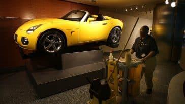 Yellow Pontiac Solstice