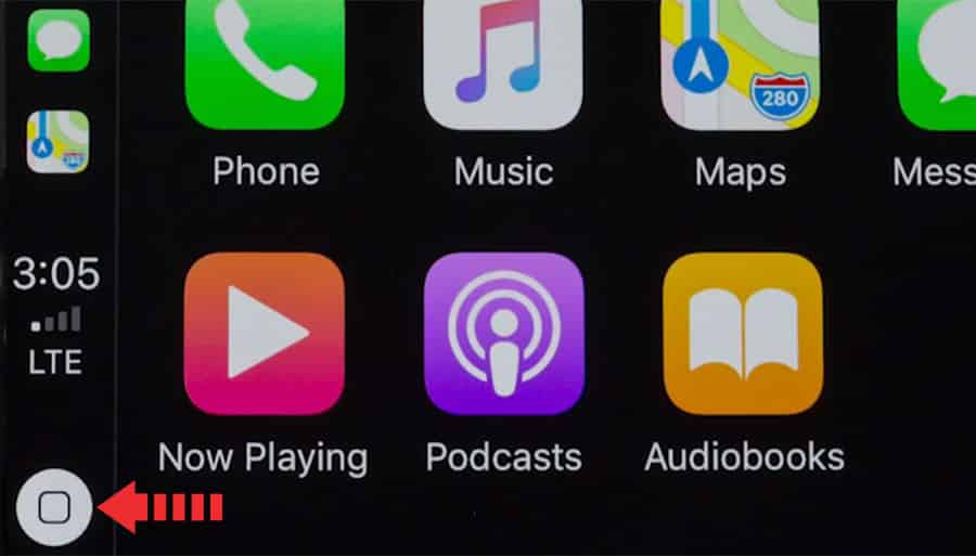 apple carplay home button launch siri assistant