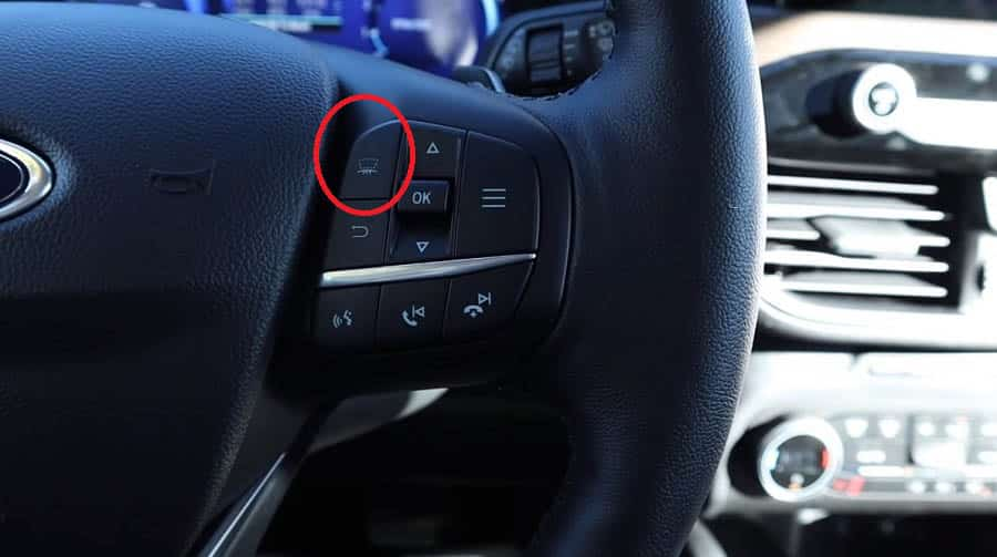 ford escape head up display button steering wheel
