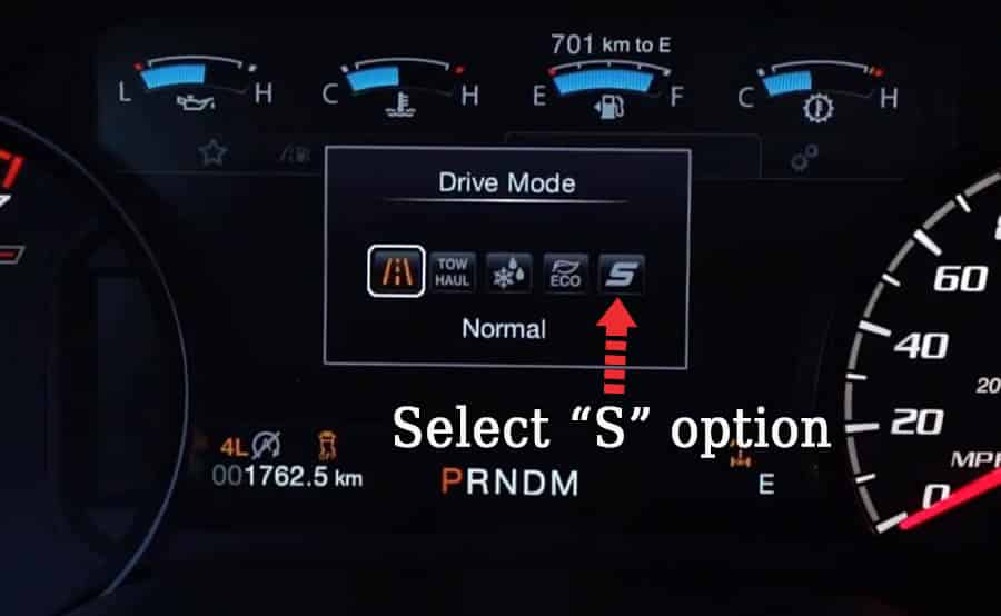 ford f 150 sports mode normal 1