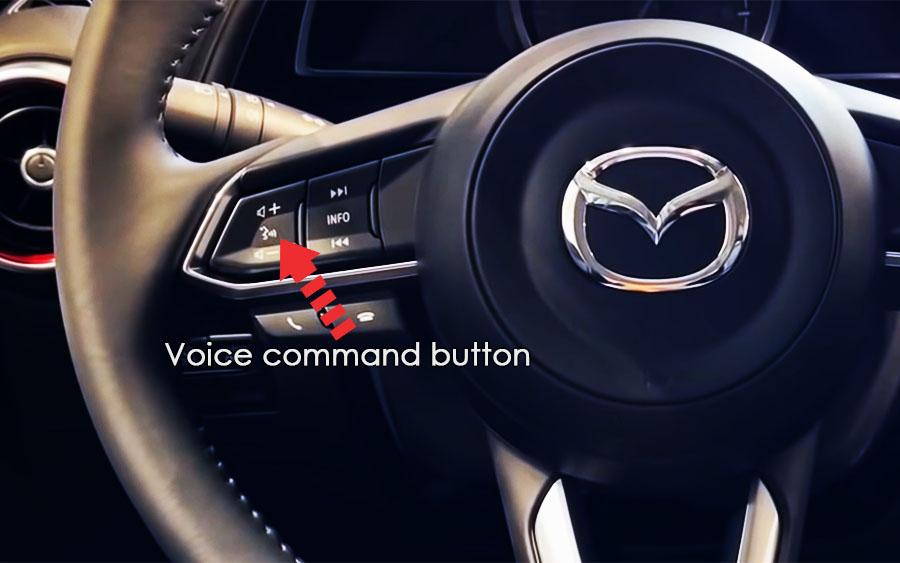 mazda cx 3 voice command button