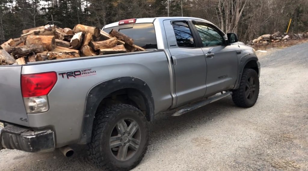 over loaded truck