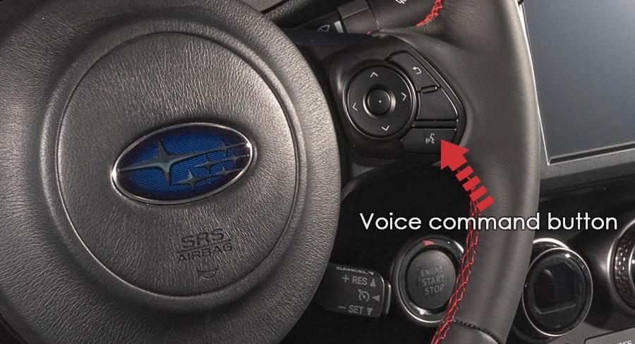 subaru brz voice command button