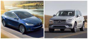 Tesla Model X vs Volvo XC90, ¿cuál es más seguro?
