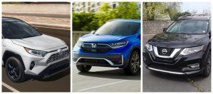 Comparación de Toyota RAV4 vs Honda CR-V vs Nissan Rogue, los SUV favoritos de Estados Unidos