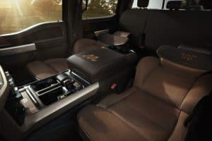 2021 Ford F 150 King Ranch fold flat front seats
